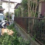 庭の草刈り・枝切り ~川西市鴬台~